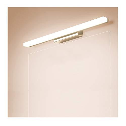 Soarl Badkamerspiegel met spiegel voor kasten, moderne en minimalistische led-make-uplamp, waterdicht, mistvrij, punching spiegellicht, energieklasse A ++]