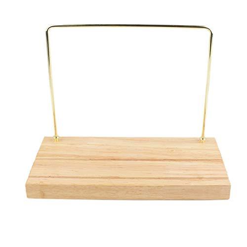 Fransande Expositor de pendientes de metal de madera maciza para exhibición de joyas
