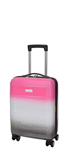 Cabin Size 4 Wheel Hand Luggage Solid Hard Shell Multicoloured TSA Lock Travel Suitcase A203 Pink