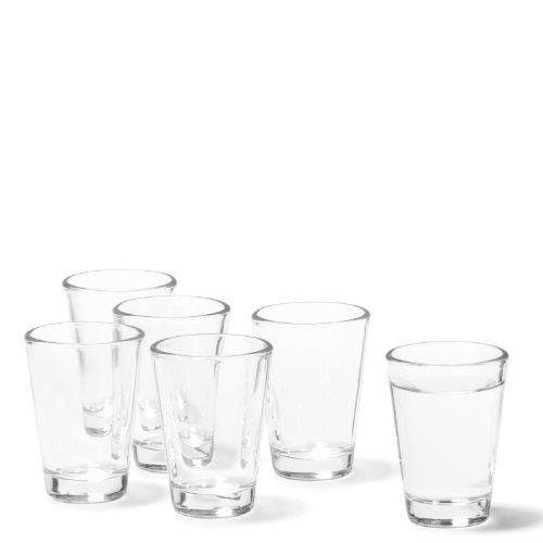Leonardo Ciao Schnaps-Gläser, 6er Set, spülmaschinengeeignete Shot-Gläser, Schnaps-Becher aus Glas, Stamper, Gläser-Set, 6 cl, 60 ml, 012663