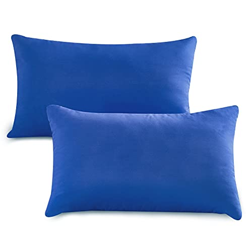 Tesosy Pack 2 Almohada 60 X 40 cm , Almohada con Funda de Lavable Almohada Antiácaros y Antibacterias, Almohada Super Suave Mullido, 100% Poliéster, Fabricada en España,Azul