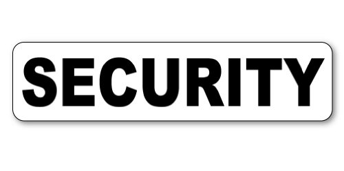 Security Magnetic Car Sign 24x6