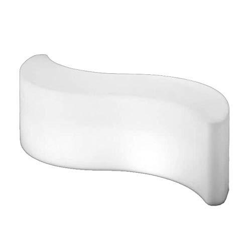 Slide Wave Light Pouf/Table basse Blanc brillant