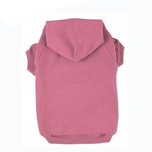 BINGPET Blank Basic Polyester Pet Dog Sweatshirt Hoodie BA1002, Pink Large