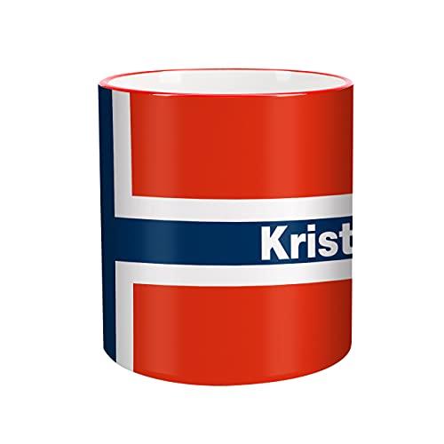 Herz und Heim® Tasse mit Wunschnamen & Flagge - Norwegen -