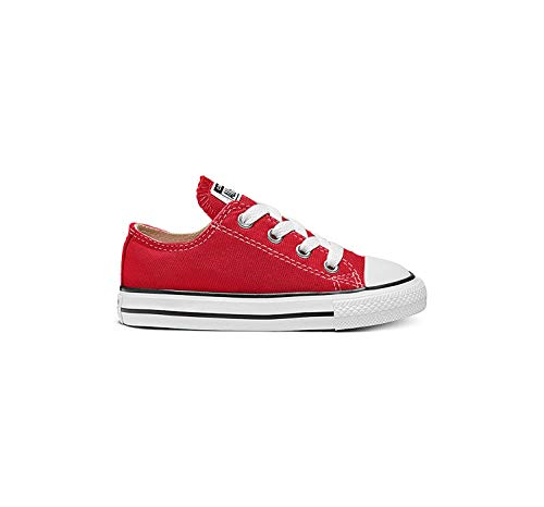 Converse Unisex-Child Chuck Taylor All Star  Low Top Sneaker, red, 8 M US Toddler