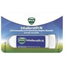 Wick Inhalierstift zur schnellen Abhilfe bei Schnupfen; Spar-Set 3Stück; mit je 41,5% Levomenthol und racemischem Campher; enthält ätherische Öle, die die Nasenatmung erleichtern; ideal für unterwegs