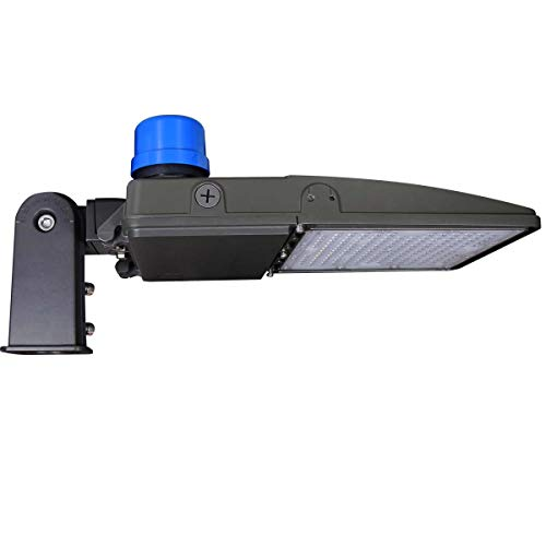 Kadision 150W LED Parking Lot Light with Photocell, LED Shoebox Lights with Slip Mount Replaces 500W HID/HPS, Dusk-to-Dawn Street Pole Light, 5000K 19500LM 100-277V IP65 ETL DLC Listed 5-year Warranty