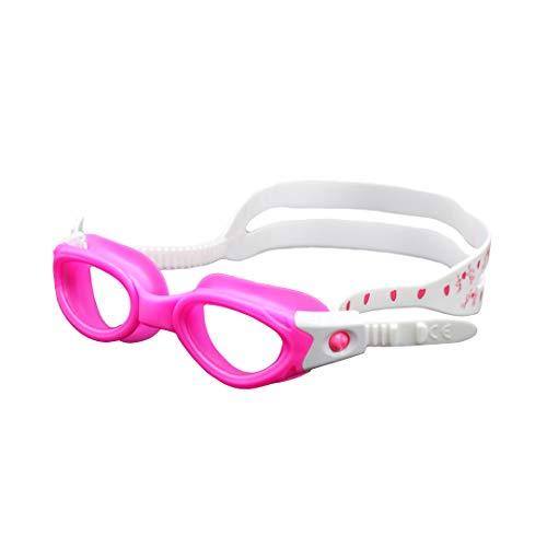 Sunlite Sports - Gafas de natación para niños, antiniebla, sin fugas, silicona suave, visión cristalina para jóvenes y niños (azul) (rosa)