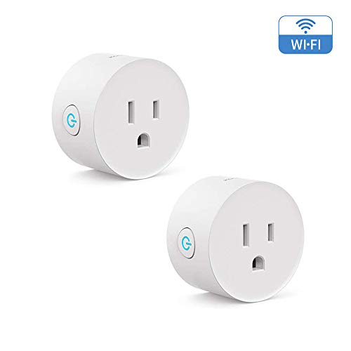 Wi-Fi Enabled Smart Plug 2-Pack Koogeek Compatible with Alexa and Google Assistant Remote Control Voice Control Timer No Hub Required...