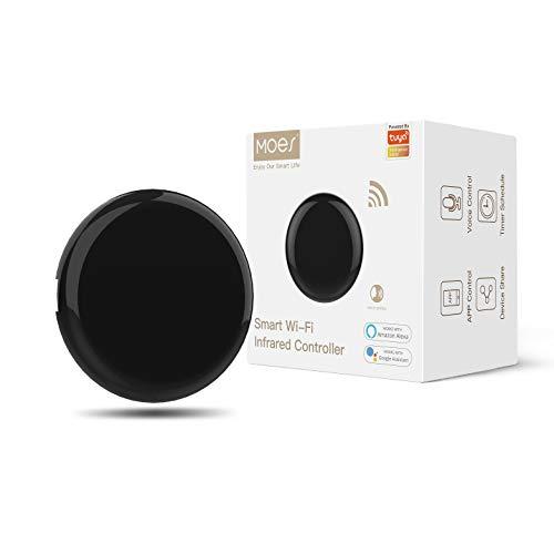 MOES Hub Mini IR Control Remoto Inteligente, Infrarrojo Domotica WiFi, Control de Aire Acondicionado Smart Home, Compatible con Alexa, Google Home, con la Voz o Las Apps Smart Life y Tuya