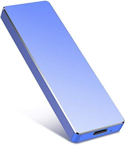 Disco rigido esterno portatile ultra sottile da 2 TB – Hard disk esterno USB 3.1 per Mac, computer portatile, PC (2TB, Blue)