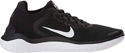 Nike WMNS NIKE FREE RN 2018, Damen Laufschuhe, Schwarz (Black/White 001), 40.5 EU (6.5 UK)