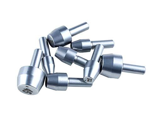 McJ Tools Reloading Case Trimmer Pilot Set:.22/.24/.27/.28/.30/9mm/.44/.45cal (Shaft 3/16'),...