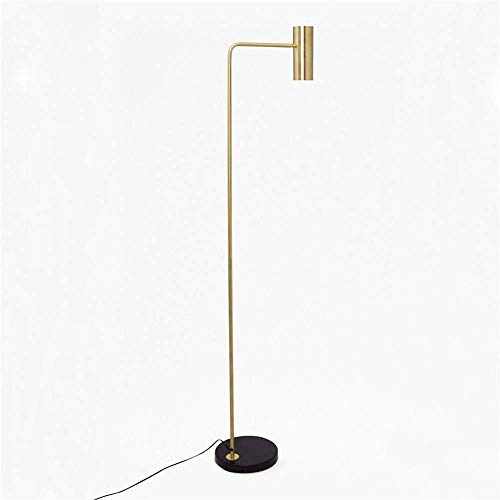 YANQING Duurzame Vloerlamp minimalistische Creatieve Aluminium Plating Lamp Cover Corrosiebestendig Niet Roest 360 ° Aanpassing Licht Hoek Hotel Woonkamer Studie Oogbescherming Marmeren A++,Kleur:H