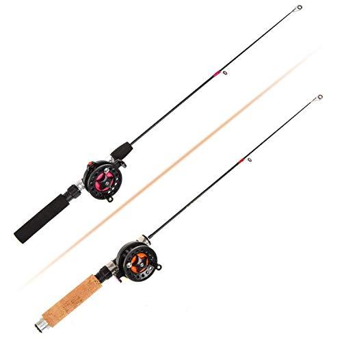 rtryyi465 Ice Fishing Rod (Reel) Winter Super Short Fiber Lightweight Retractable Telescopic Pole (Wheel) for Freshwater Saltwater,C