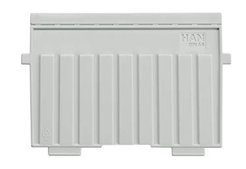 HAN 9026-11, Stützplatte DIN A6 quer, für HAN Karteitröge und Karteikästen, 5er Packung, lichtgrau
