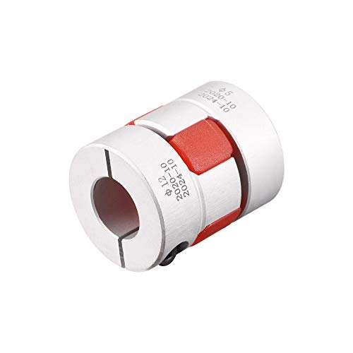 uxcell 5mm to 12mm Bore L31xD25 Flexible Coupling Jaw Coupler Shaft Joint for Servo Motor
