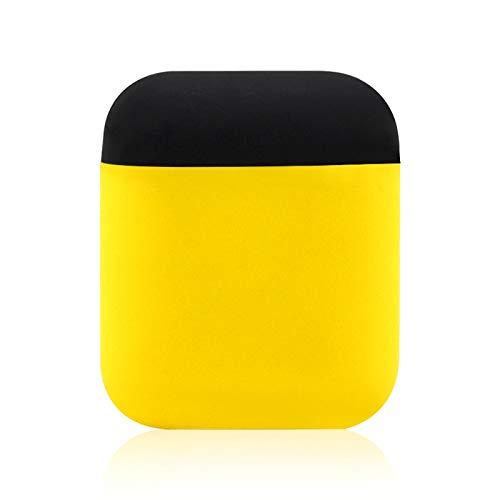 SyPortable de Split inalámbrica Bluetooth for Auriculares en Dos Colores con la Caja Protectora de Silicona Anti-perdida Dropproof Bolsa de Almacenamiento for Apple AirPods de 1/2 (Negro),StarLightd