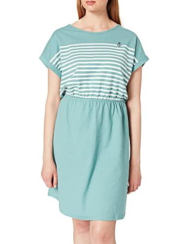 TOM TAILOR Denim Damen 1024956 Jersey Kleid, Mineral Stone Blue (13178), S