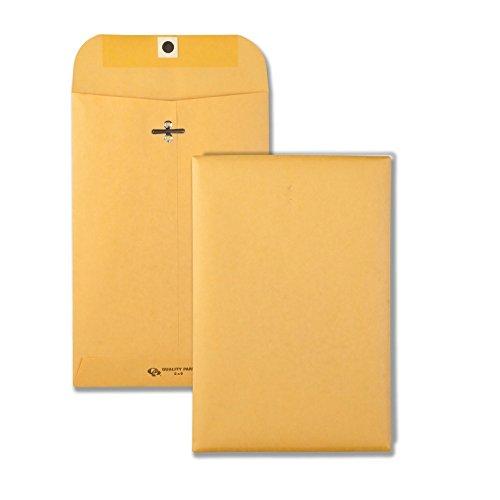 Quality Park Clasp Envelope, 55, 6 x 9, 28lb, Brown Kraft, 100/Box (37855)