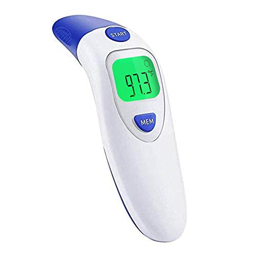 Forehead Thermometer with Ear Function - Professional Medical Digital Infrared Temporal Thermometer Adults, Fever Thermometer for Babies, Kids, Infants, Toddlers, Children, Fever Alarm, ℃/℉ Available