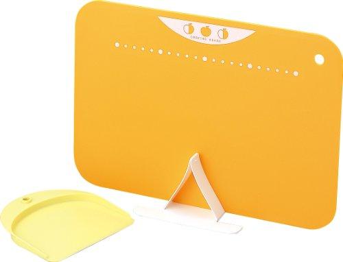 川崎合成樹脂 スタンド付やわらかまな板セット オレンジ CB-031