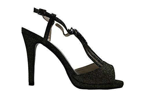 Caparros Womens Ohara Fabric Peep Toe Ankle Strap Classic