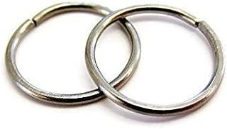 Handmade Small Titanium Hoop Earrings Cartilage Rings For Sensitive Ear 9mm 20Gauge