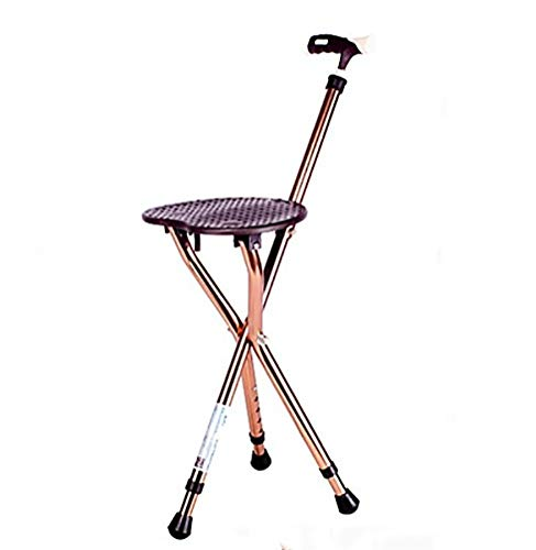 RUIRUI Folding Lightweight Adjustable Height Cane Seat,...