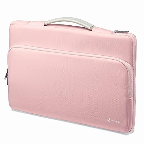 tomtoc 13-13.5 Pouces Sacoche Housse de Protection Ordinateur Portable pour 13.3' Ancien MacBook Air/Pro, 12,9' iPad Pro 1re/ 2e Gen, 13.5' Microsoft Surface Book 3/2/1, Surface Laptop 4/3/2/1, Rose