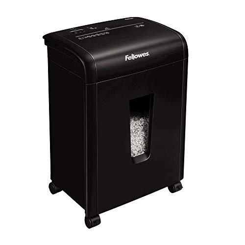 Fellowes Aktenvernichter 62Mc Microshred, 10 Blatt Mikro-Partikelschnitt 3x10mm (P-4), Papierschredder für Zuhause / Home Office, mit Sicherheitssperre