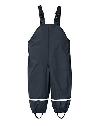 PIZOFF Unisex Kinder Jungen Regenlatzhose, Wind- und wasserdichte Matschhose Regenhose, Navy, L (110/116)