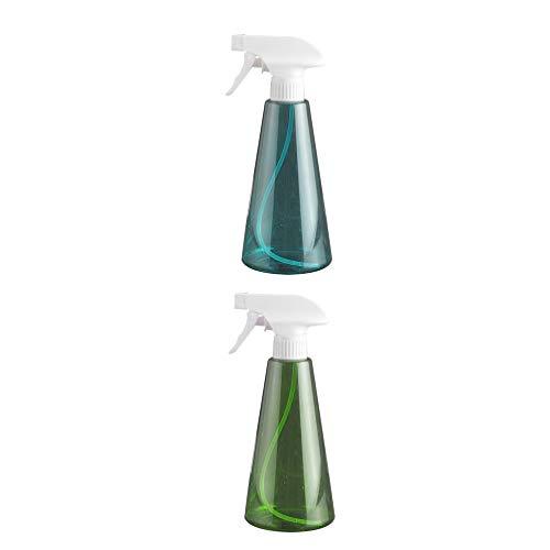 PIXNOR 2Pcs 500Ml Leere Sprühflasche Kunststoffpumpe Sprühflasche Reise Nebel Wasserflasche für Reinigungslösungen Haarpflege Ätherische Öle