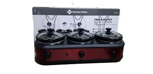 Rechaud Elétrico Triplo Buffet Slow Cooker 3 Panelas Ceramica