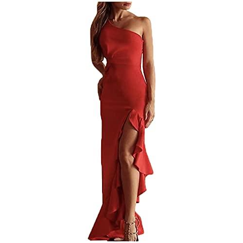 Nuevo 2021 Vestidos largo para Mujer, Elegante Vestido de Novia Vestidos de Boda Slim Fit Fiesta Moda Vestido...