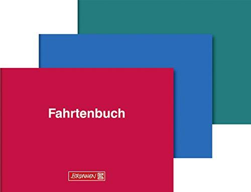 Fahrtenbuch für Kraftfahrzeug, A6 quer, 40Blatt, sortiert (rot, blau, grün)