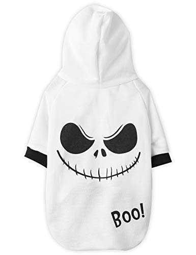Coomour Dog Halloween Hoodies Pet Cute Ghost Costume Outfit for Dogs Cats Puppy T-Shirt Clothes (XS)