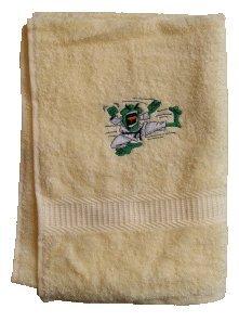 S.B.J - Sportland Handtuch aus Frottee mit Bestickung Kampfsportmotiv