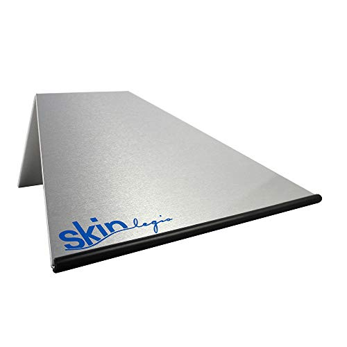 SkinLegis Buchstütze (Aluminium) - BluePrint - 80mm mit Gummikante (Ziegler/Tremel)