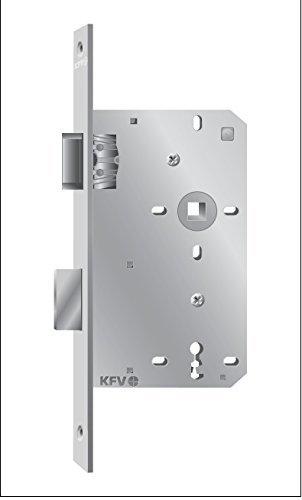 KFV Extra Schmales Zimmertür-Einsteckschloß BB 72 Rechts