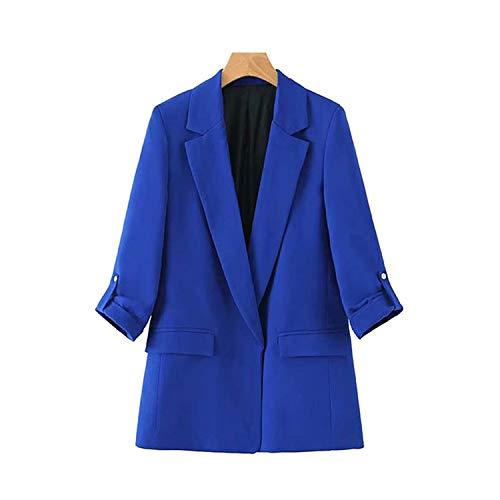 Green Plaid Vintage Office Lady open steek blazer mantel vrouwen gekerfde kraag driekwart mouwen bovenkleding