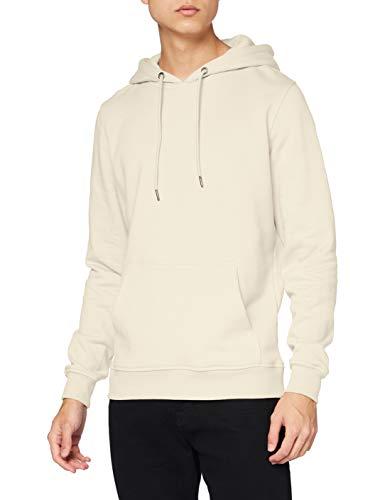 Urban Classics Herren Kapuzenpullover Basic Sweat Hoodie, einfarbiger Kapuzensweater mit Känguru Tasche, Kapuze verstellbar - Farbe sand, Größe M