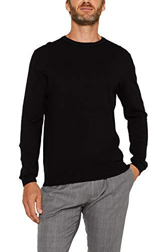 ESPRIT Herren 996EE2I900 Pullover, Schwarz (001), 02/19, XL