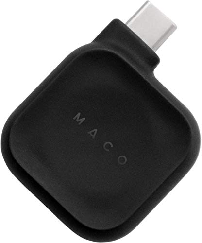 MACO GO コインサイズのApple Watch用充電器 USB-C端子仕様 Mackbook Pro/iPad Pro(USB−C端子付モデル)に直...