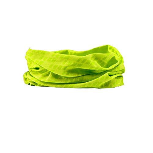GripGrab Unisex– Erwachsene Fahrrad Multifunktionstuch Schlauchschal Dünnes Leichtes Buntes Halstuch Halswärmer Radsport Wandern Laufen Multifunktionshalstuch, Gelb Hi-Vis, OneSize (54-63 cm)
