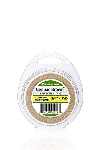 Walker Tape Premium Colle en rouleau 19 mm Forte propriétés adhésives double face indétectables Perruques