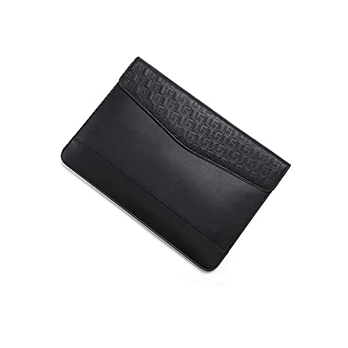 Costowns 本 革ブリーフケースA4 大きめセカン ドバッグ メンズ レディース バッグ 手持ち バッグ A4サイズ 13.3インチ ipadair 収納可 ビジネス 封筒袋 資料ケース HL0029-005 (黒)
