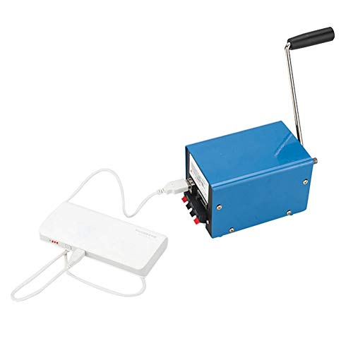 Handgekurbelt Generator Katastrophennotfall Haushalt Tragbarer Stromgenerator USB Mobiles Computer-Ladegerät DIY Generator Handkurbel Stromerzeuger Mini Tragbarer Generator Outdoor 20 Watt