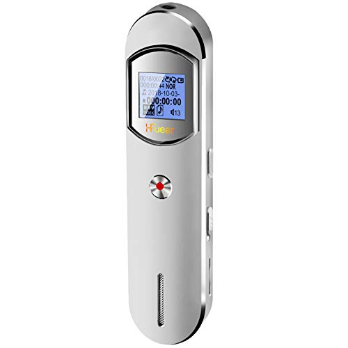 Digital Voice Recorder, 8GB 1536 Kbps Voice Recorder with MP3 Player, 64GB TF Card Extend Voice Activated Recorder with Rechargeable, Password Protection, A-B Repeat for Meetings, Lectures, Interviews
